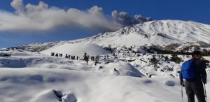 Prima neve con le Ciaspole - Etna